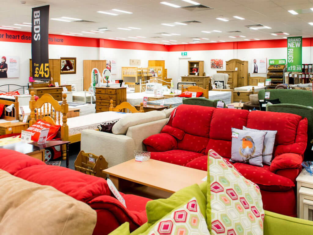 Furniture donation to the British Heart Foundation.