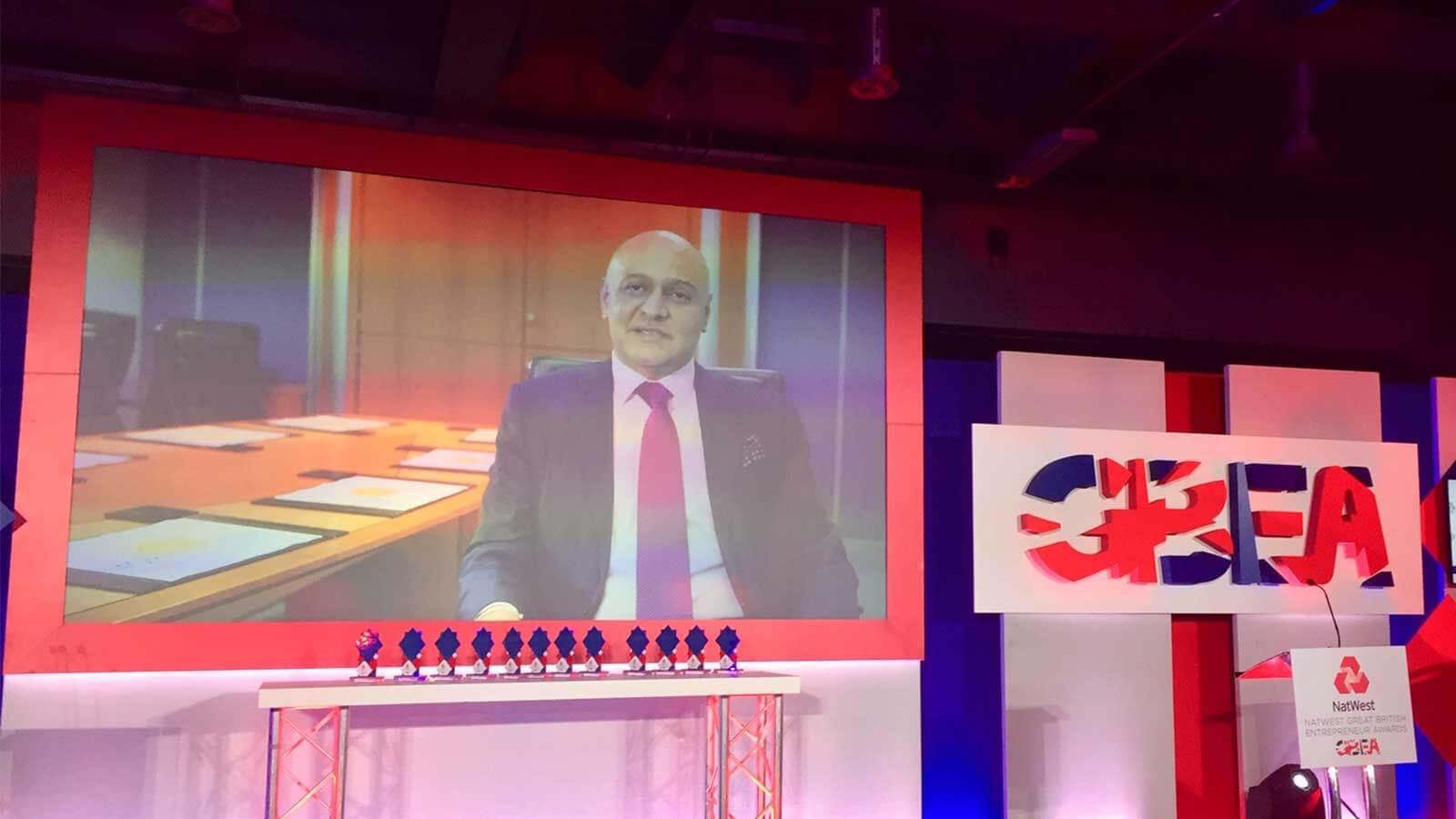 Great British Entrepreneur Award Win