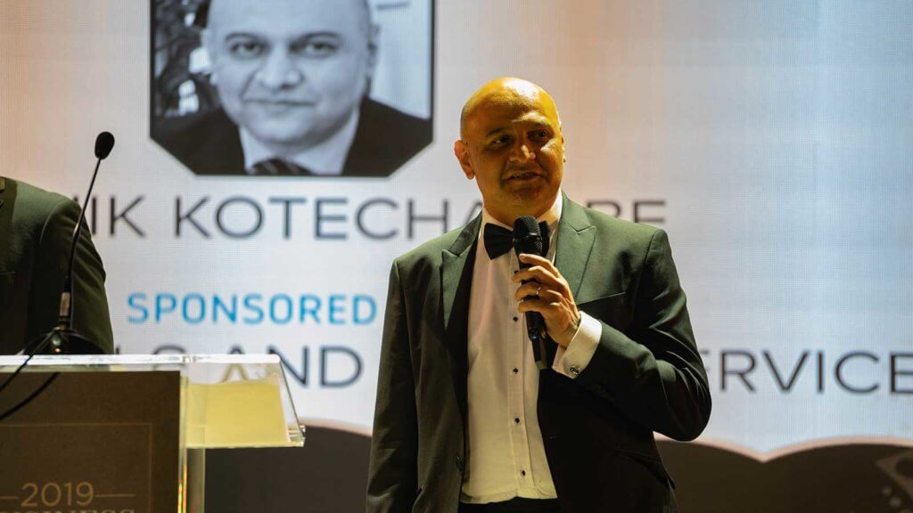 Dr Nik Kotecha, winner at the Niche Business Awards 2019