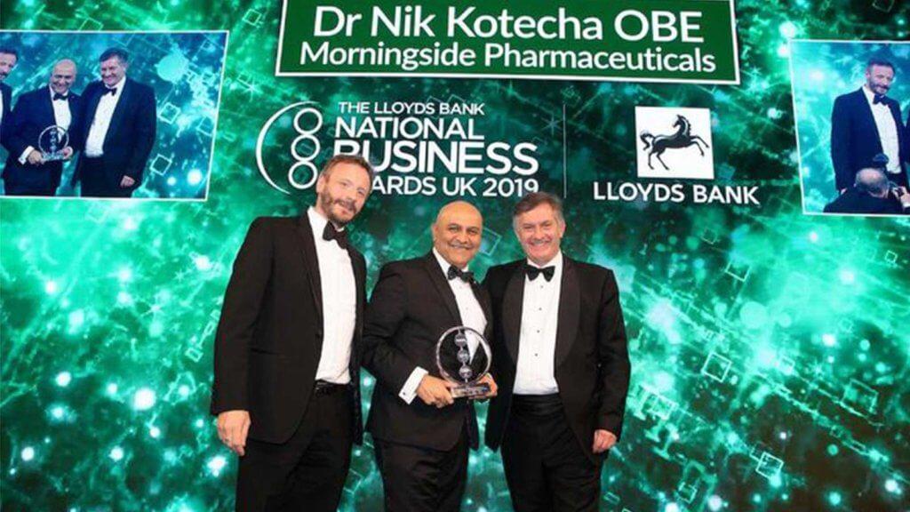 Lloyds Bank National Business Awards win for Dr Nik Kotecha OBE