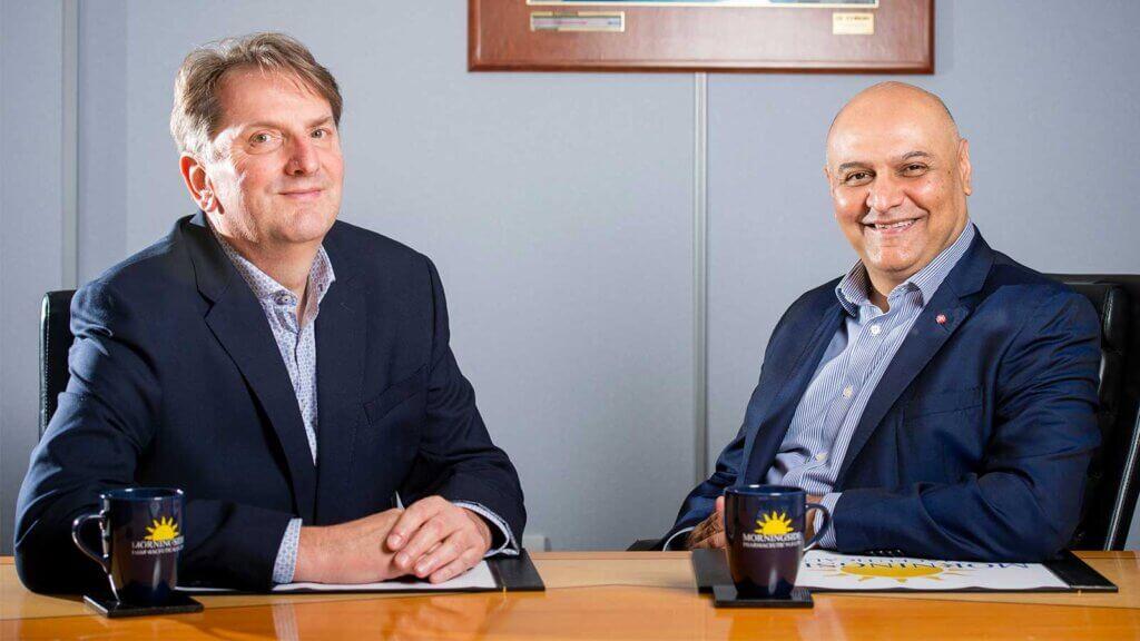 Dr Nik Kotecha and Tim Brady of Morningside Pharmaceuticals