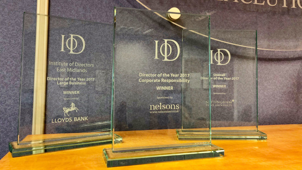 Morningside Pharmaceuticals won three East Midlands IoD (Institute of Directors) Awards