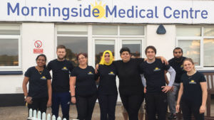 The Morningside Pharmaceuticals team at Leicester County Cricket Clubs's Grace Road ground