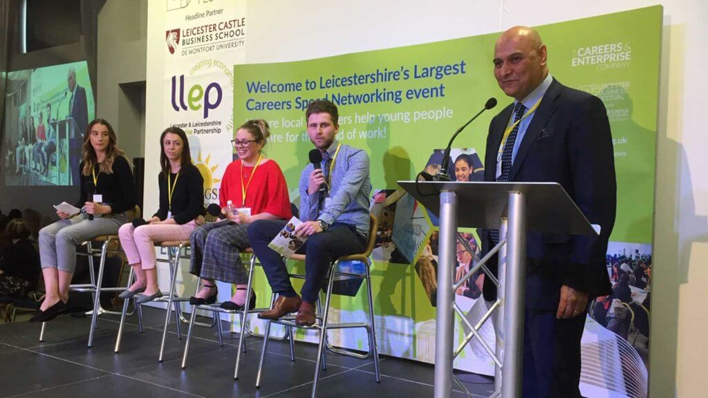 Morninsgside panel at the LLEP's Careers Speed Networking event