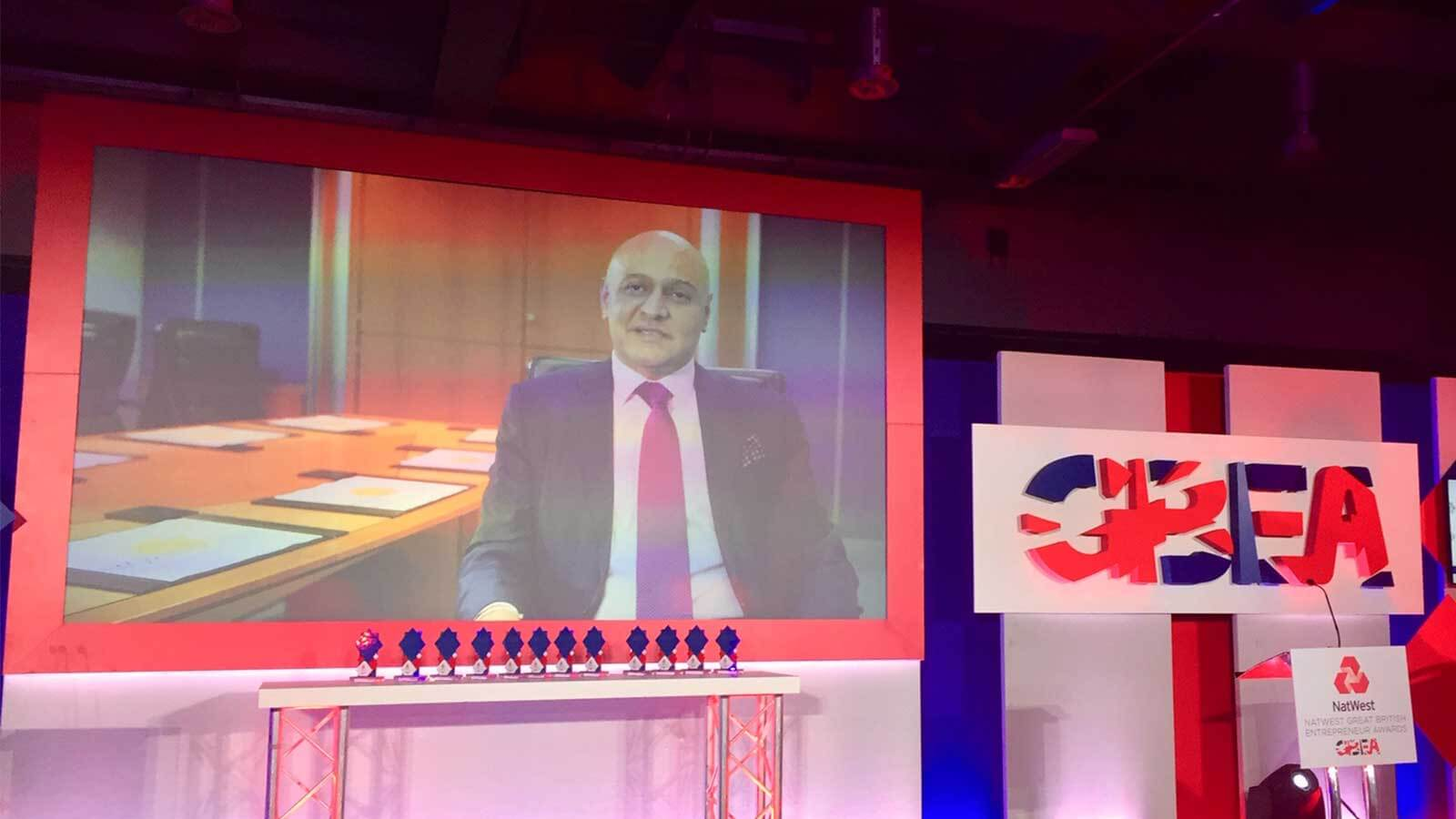 Great British Entrepreneur Award Win